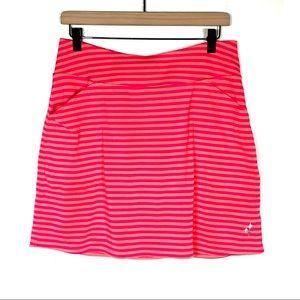 JoFit pink/orange striped tennis golf skort skirt